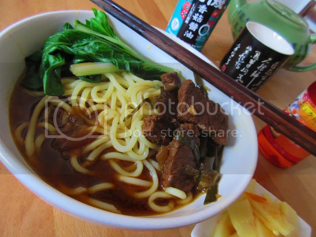 Taiwanese spicy meat Noodle soup
