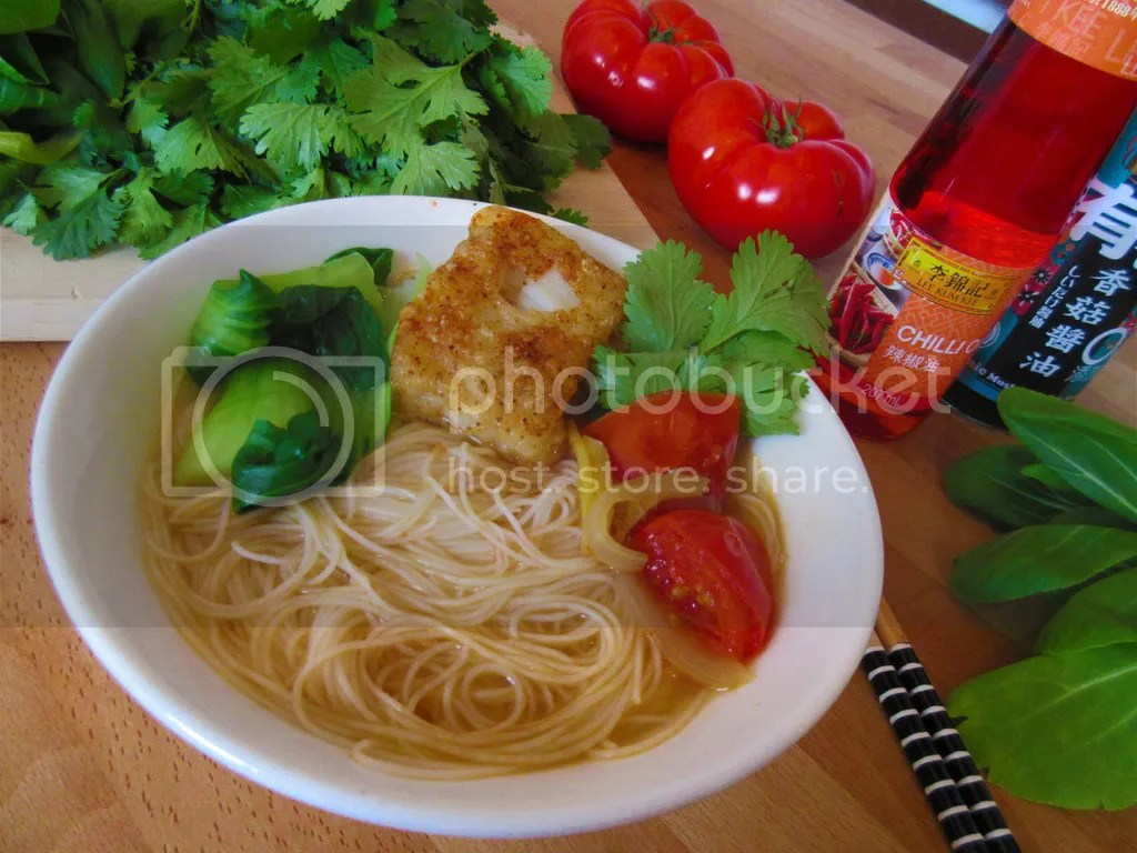 Taiwanese thick Fish noodle soup