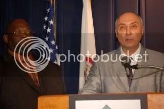 IADDA Chairman Allen Sandusky addresses reporters.
