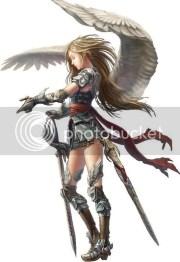 anime angel with brown hair