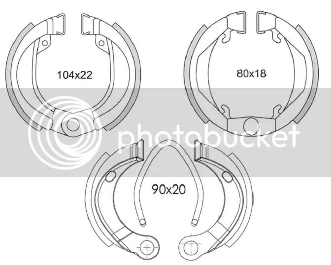 Shoes of brakes NEWFREN cyclo AV AR PEUGEOT 103 SPX RCX