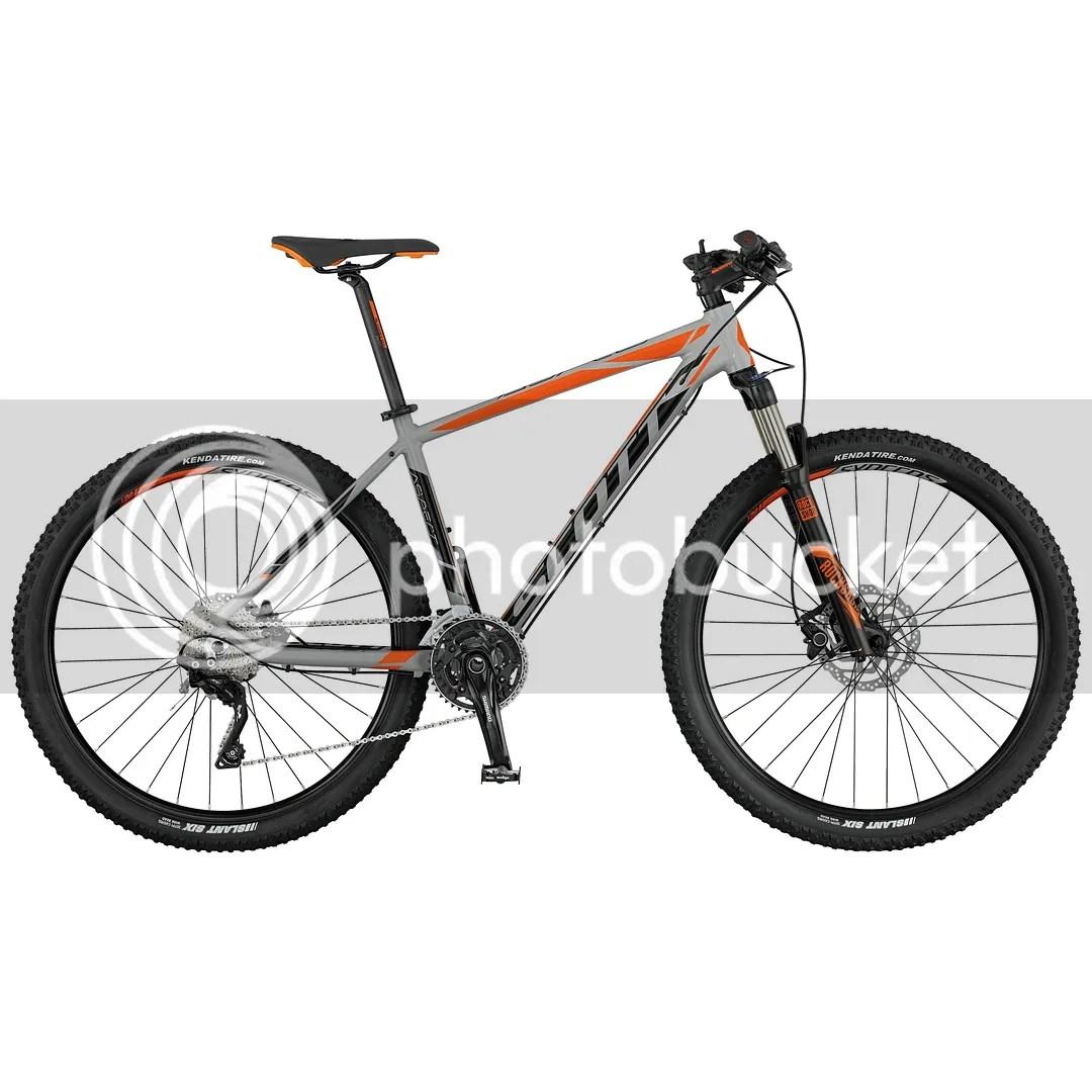 VTT vélo SCOTT Aspect 710 Gris Orange semi-rigide 2017