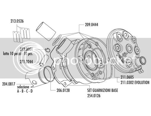 Kit haut moteur Cylindre POLINI fonte AM6 DT XP6 XR6 X