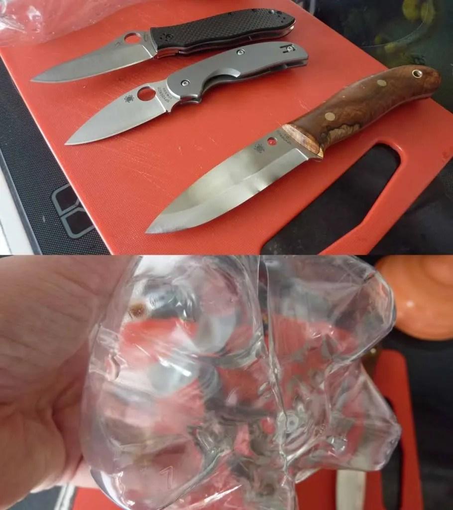 Bottle Butt test on Gayle Bradley Bushcrafter and Sahe II