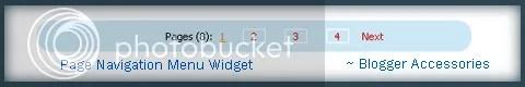 Page Navigation Menu Widget