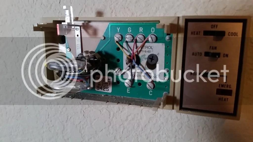 goodman air handler wiring diagram electric motor start capacitor replacing a janitrol hpt 18 60 thermostat doityourself com thoughts