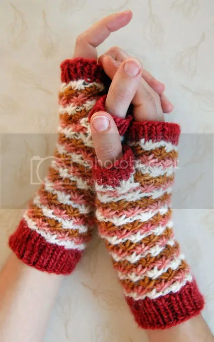 Daisy Stitch Hand Warmers