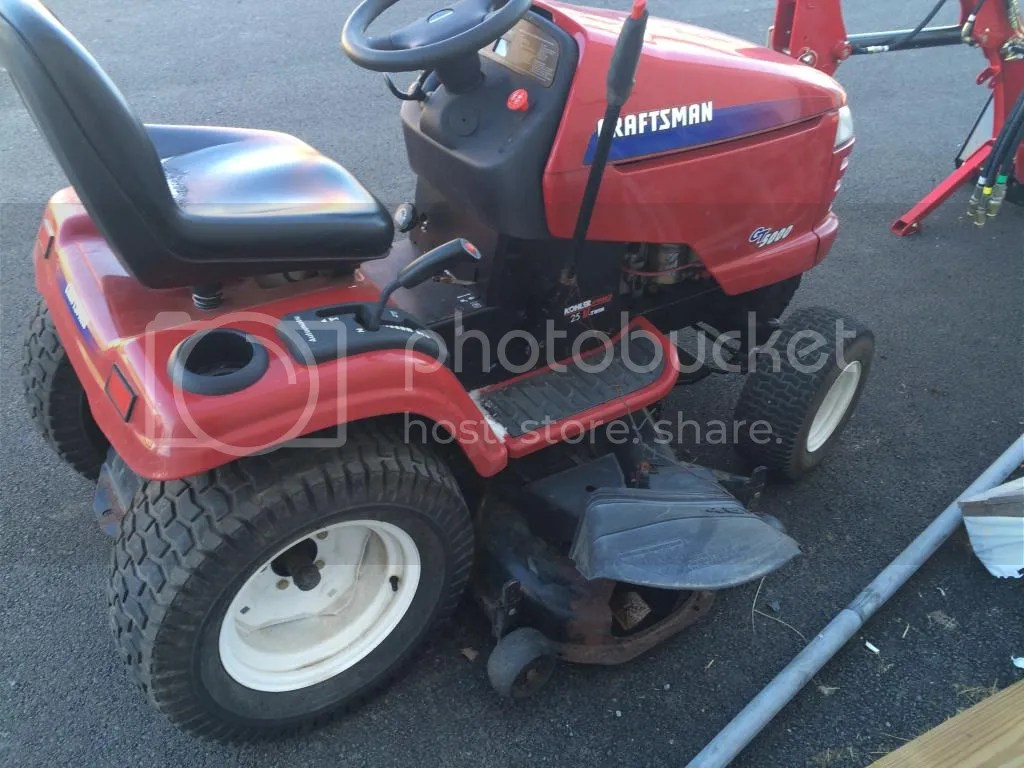 hight resolution of craftsman gt 5000 lawn tractor riding mower 25 hp kohler