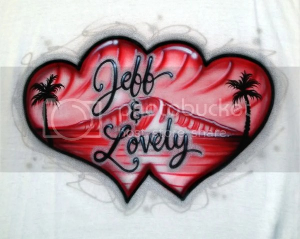 Couples Beach Airbrush Tee Picasso 88