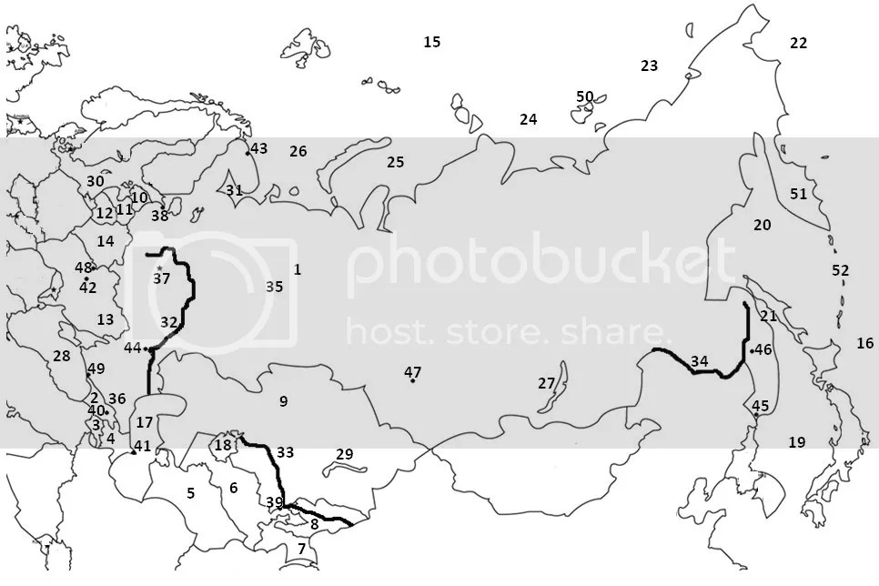 Russia And The Republics Political Map Quiz