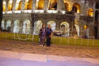 The Colliseum. And my ghostly husband!