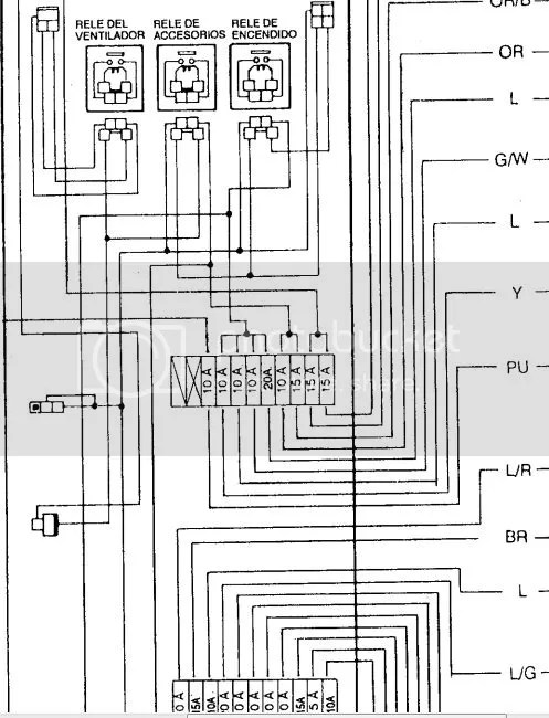 Diagrama electrico nissan tsuru ii
