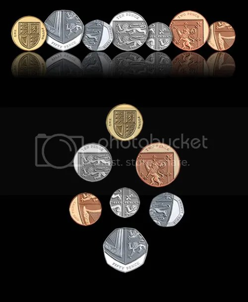 New UK coins by Matthew Dent