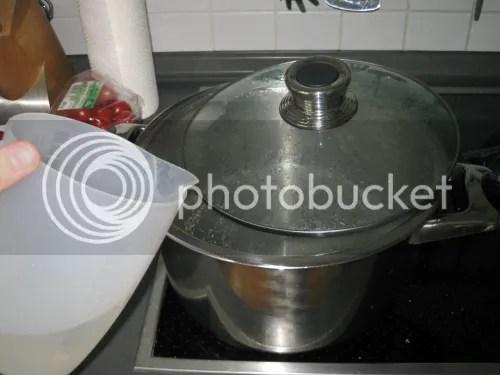 Schritt 2 - Wasser kochen