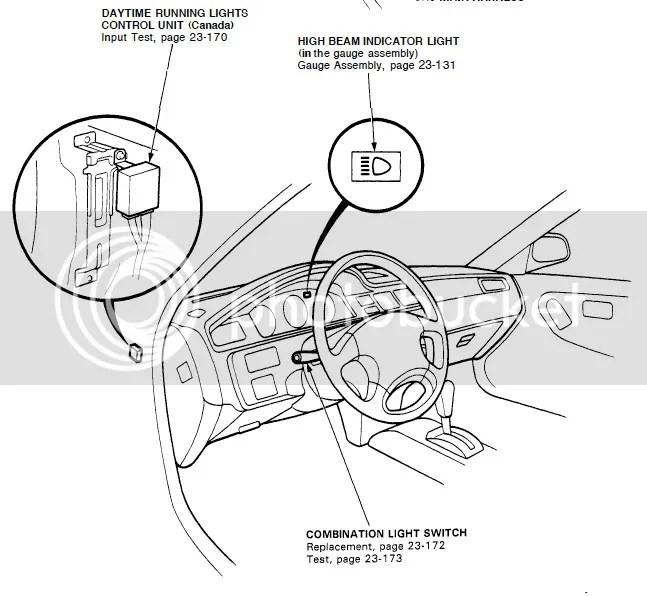 Honda odyssey drl module location
