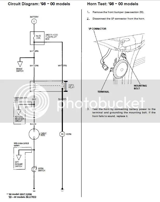 2000 honda accord horn wiring  start wiring diagrams faith