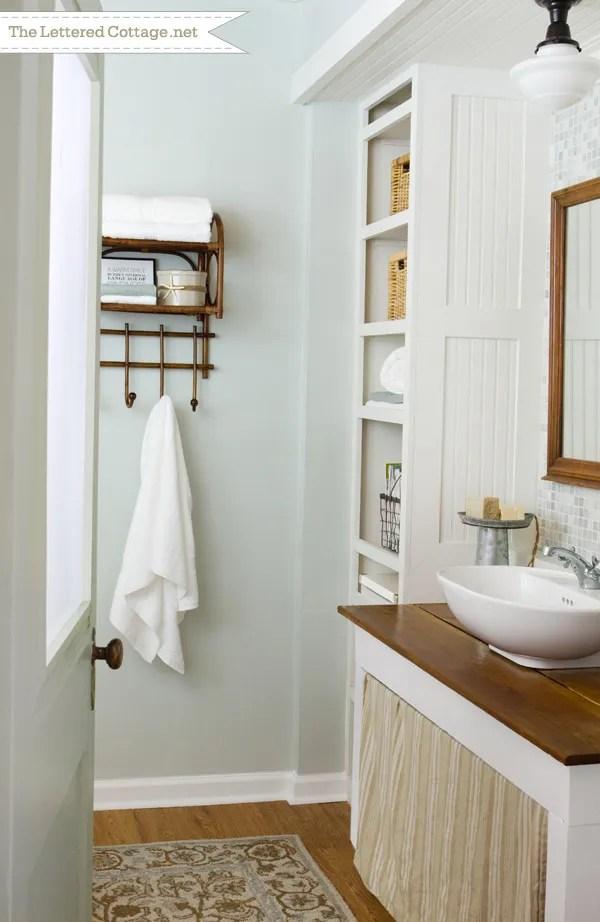 Cottage Bathroom  The Lettered Cottage