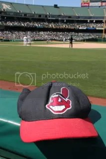 Indians cap at Oakland