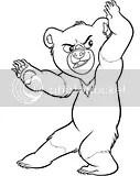 dibujos para colorear hermano oso