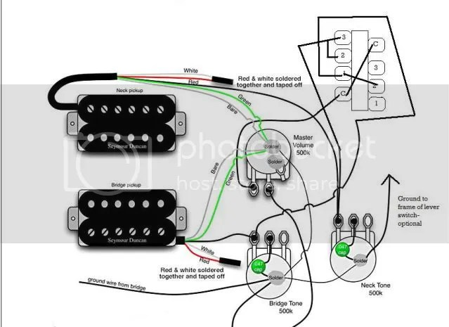 Wiring help for HH 5way switch Strat