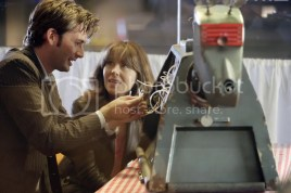 David Tennant and Elizabeth Sladen in Doctor Who. (BBC)