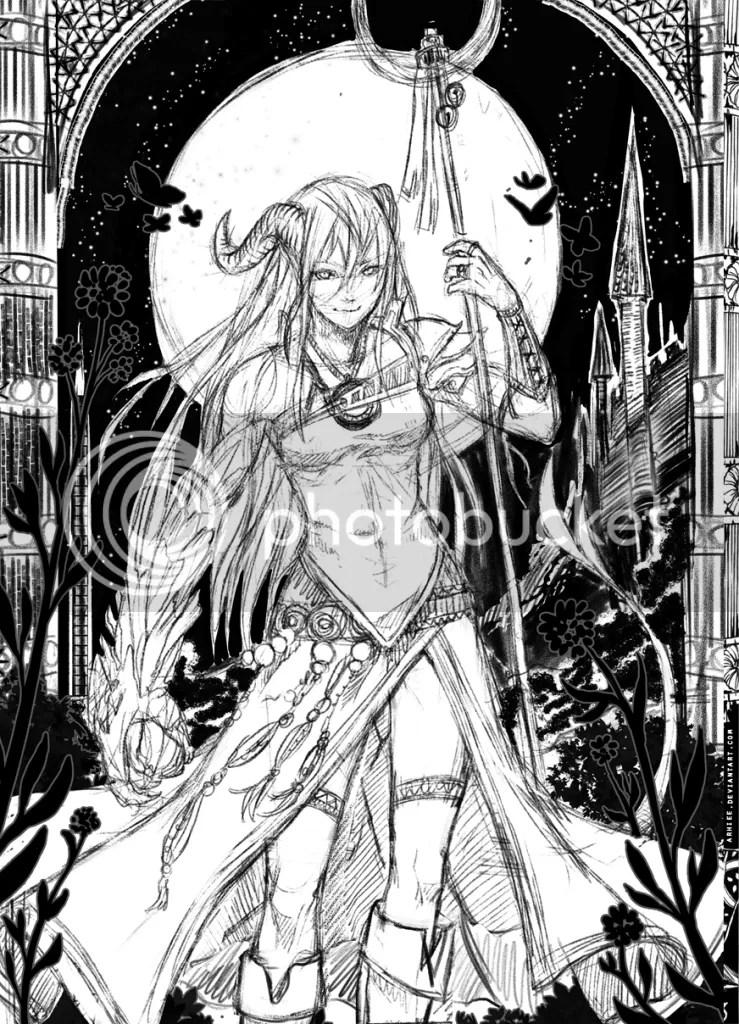 Chica demonio sketch