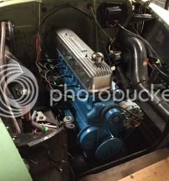 1951 chevy styleline deluxe 2 door sedan 1954 235 with isky cam shaved head dual carter yf 787s carbs on offenhauser intake split manifold dual exhaust [ 1024 x 768 Pixel ]