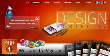Themeforest PageOne Html One  Page Portfolio  ite