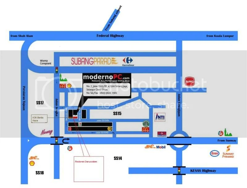 Map of Darussalam SS15