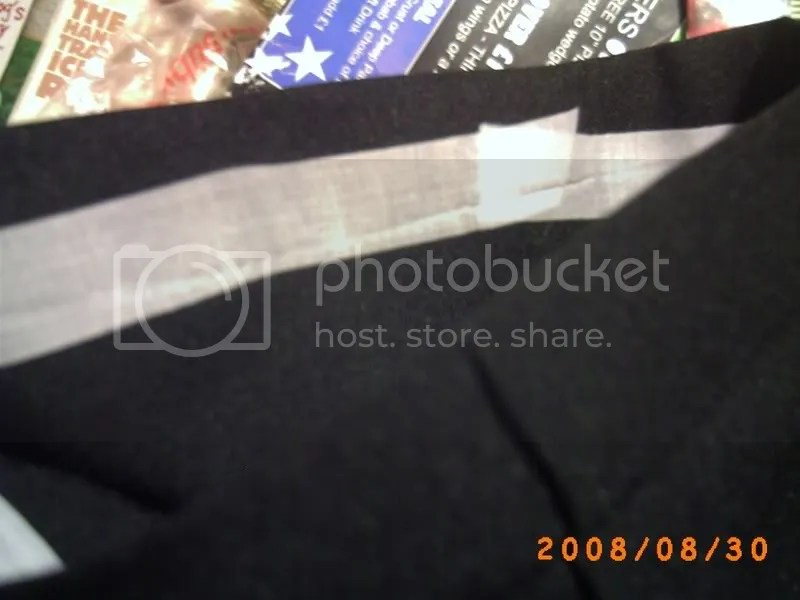 The inside of the hem; the white is the hemming tape.