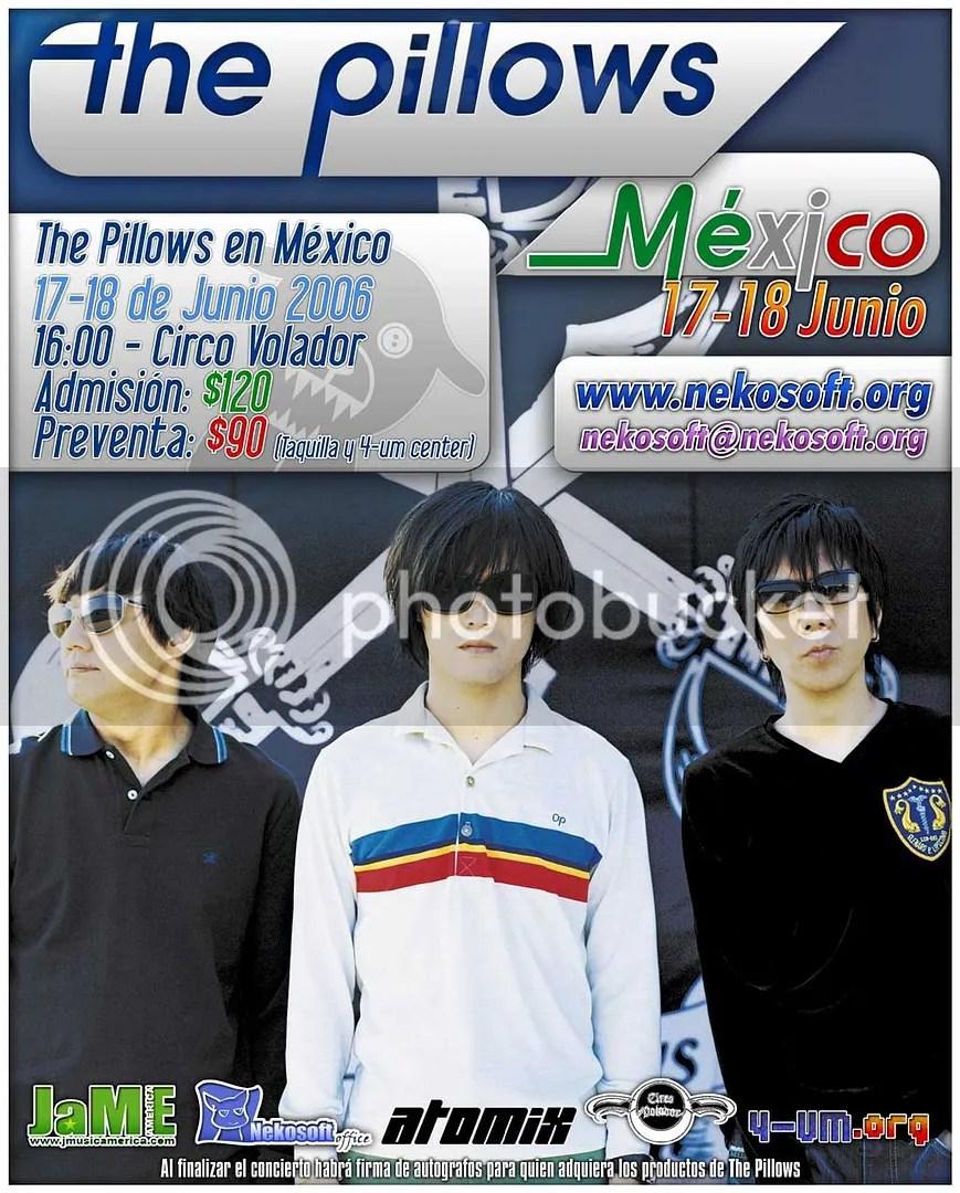 Cartel del 2006 cuando se presentaron en México - lastima que entonces no era fan, hubiera ido :-( --