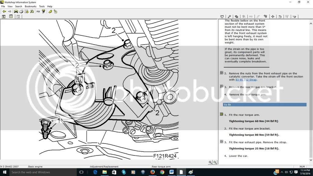 2.8 tranny and engine torque mount bolt torque values