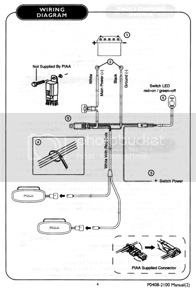 PIAA Relay/ Harness Wiring Diagram