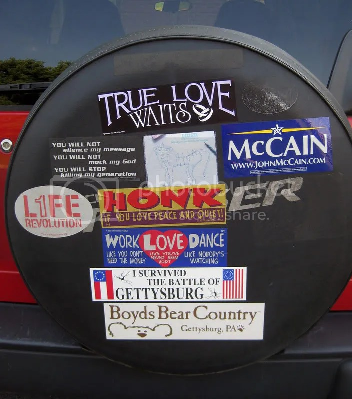 My bumper stickers, including one for McCain