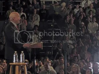 John McCain speaks at a rally in the Lehigh Valley.