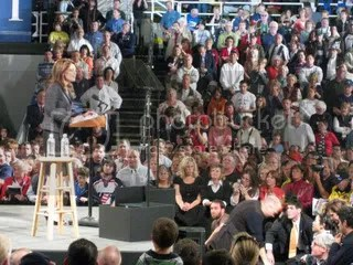 Sarah Palin commands the crowd.