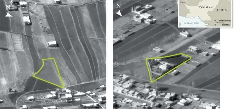 Osama bin Laden's hideout in 2004 compared to today
