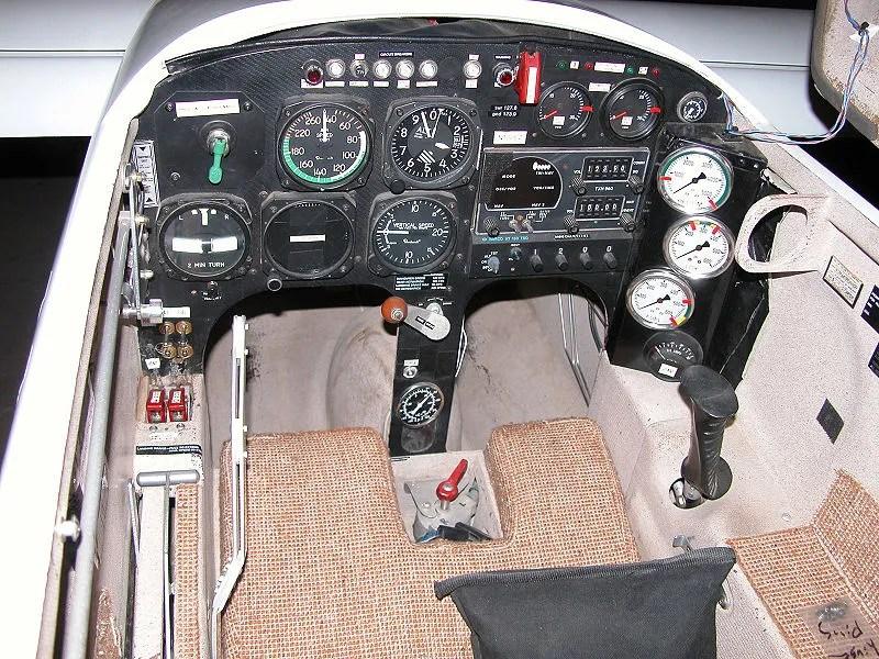 Cockpit of the XCOR Aerospace EZ-Rocket