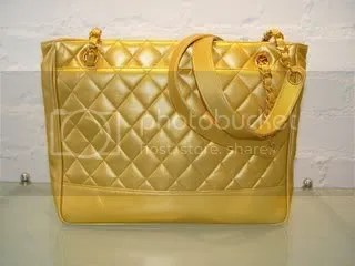 Chanel Pearlized Gold Quilted Purse