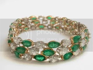 Oscar Heymann\'s Emerald and Diamond Bracelet ($10,000)