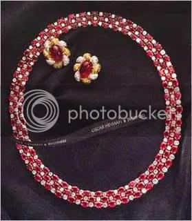 Oscar heymann\'s Ruby and Diamond Necklace ($320,000)