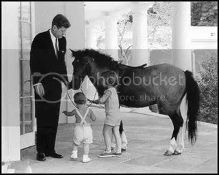 President John F Kennedy with Caroline and John Jr 1