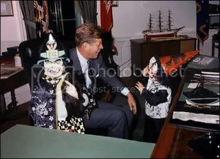 President John F Kennedy with Caroline and John Jr 2