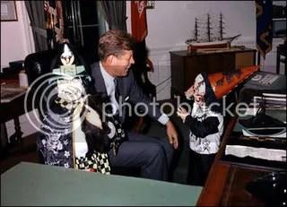 President John F Kennedy with Caroline and John Jr 2
