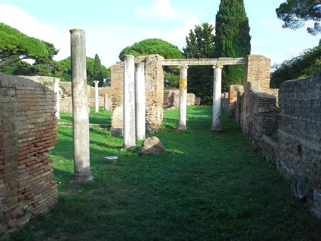 Early Christian basilica in Ostia, the ancient harbor city of Rome.