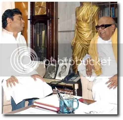 Rahman with CM