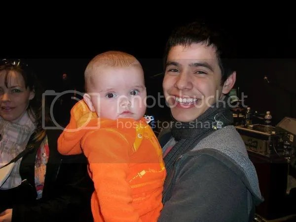 david archuleta with mike (his guitarist)'s baby Pictures, Images and Photos