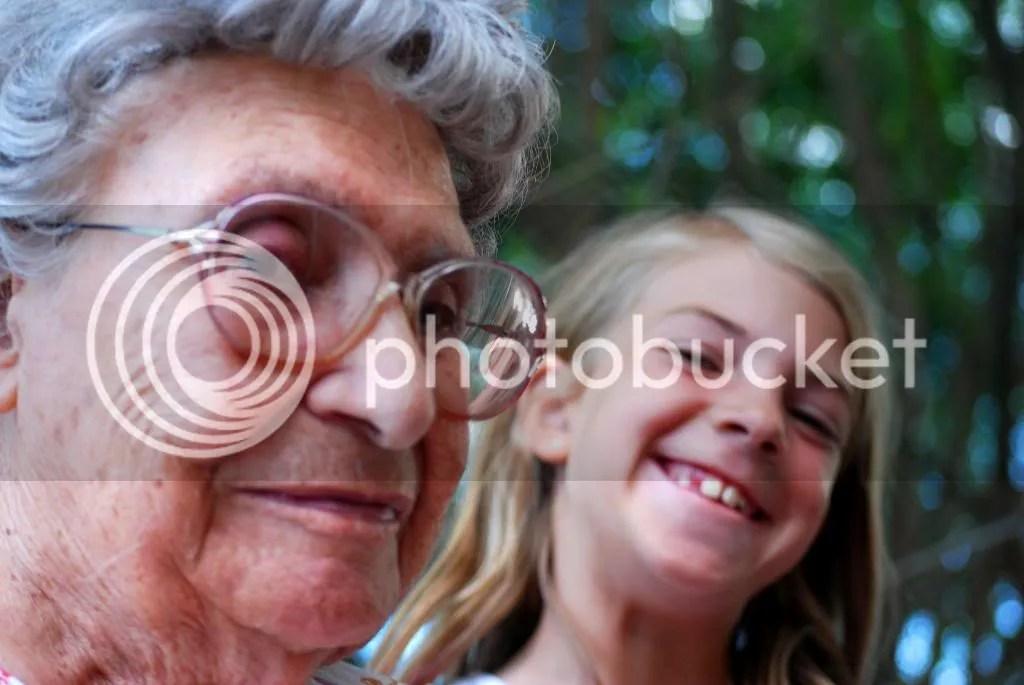 great grandma and great grand kid family reunion
