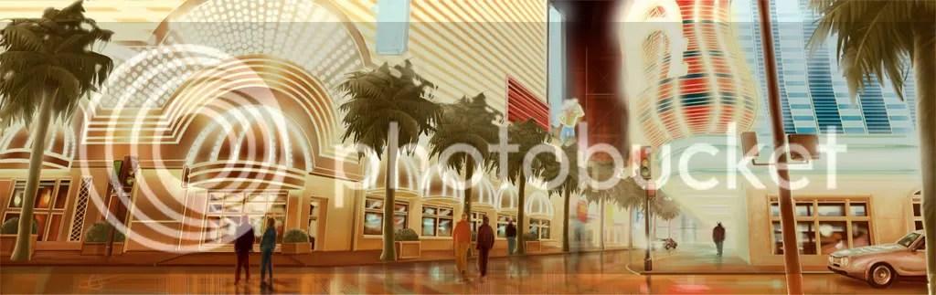 Las Vegas ilustración digital