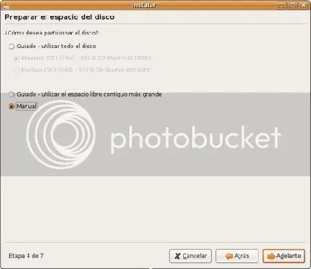 Configuracion Disco Duro Instalacion Ubuntu
